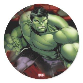 Avengers Hulk Smashing Through Bricks