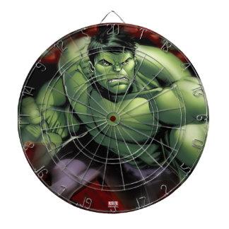 Avengers Hulk Smashing Through Bricks Dartboard