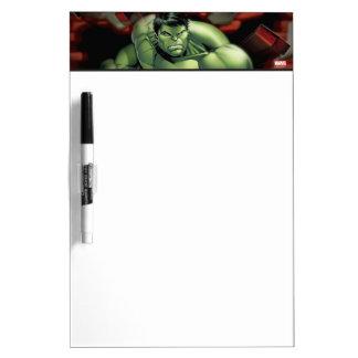 Avengers Hulk Smashing Through Bricks Dry-Erase Board