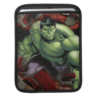Avengers Hulk Smashing Through Bricks Sleeve For iPads