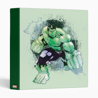 Avengers Hulk Watercolor Graphic 3 Ring Binder
