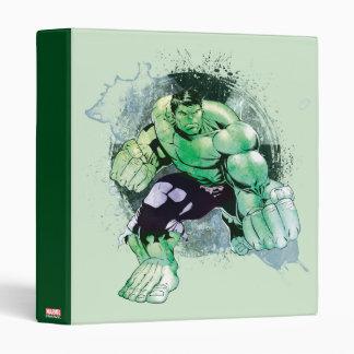 Avengers Hulk Watercolor Graphic 3 Ring Binder