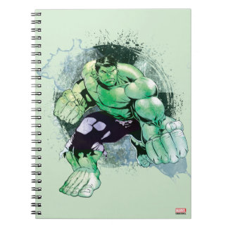 Avengers Hulk Watercolor Graphic Spiral Notebook