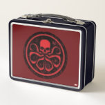 """Avengers   Hydra Logo Metal Lunch Box<br><div class=""""desc"""">Avengers Classics   Hydra red and black logo on dark red background.</div>"""