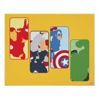 Avengers Iconic Graphic Poster