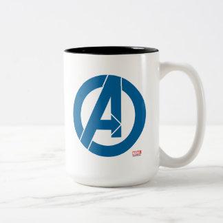 Avengers Logo Two-Tone Coffee Mug