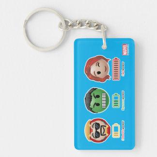 Avengers Power Emoji Keychain