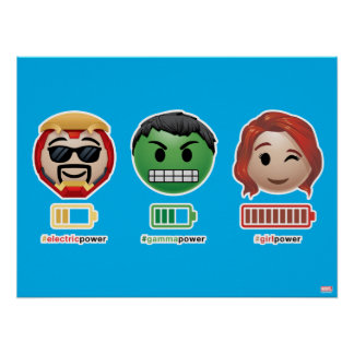 Avengers Power Emoji Poster