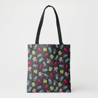 Avengers Simple Line Art Toss Pattern Tote Bag