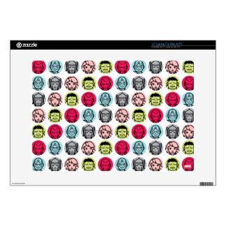 "Avengers Stylized Line Art Icons Pattern 15"" Laptop Skin"