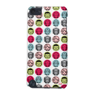 Avengers Stylized Line Art Icons Pattern iPod Touch 5G Cover