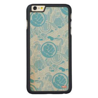 Avengers Symbols Pattern Carved® Maple iPhone 6 Plus Slim Case