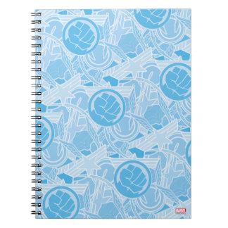 Avengers Symbols Pattern Notebook