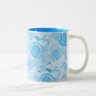 Avengers Symbols Pattern Two-Tone Coffee Mug