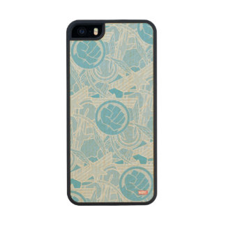 Avengers Symbols Pattern Wood Phone Case For iPhone SE/5/5s
