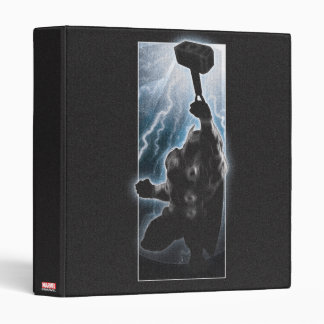 Avengers Thor Character Silhouette Binder