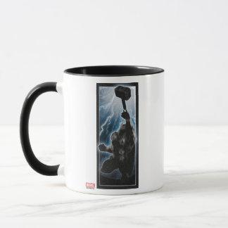 Avengers Thor Character Silhouette Mug