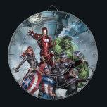 "Avengers Versus Loki Drawing Dartboard<br><div class=""desc"">Avengers Classics | Drawing of the Avengers battling Loki.</div>"