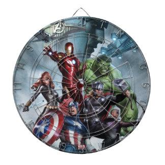 Avengers Versus Loki Drawing Dartboard