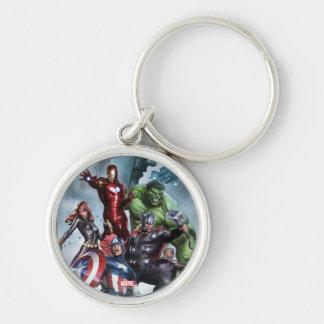 Avengers Versus Loki Drawing Keychain