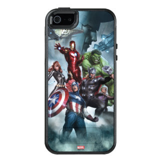 Avengers Versus Loki Drawing OtterBox iPhone 5/5s/SE Case