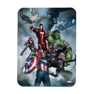 Avengers Versus Loki Drawing Rectangular Photo Magnet