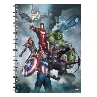 Avengers Versus Loki Drawing Spiral Notebook