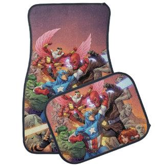 Avengers Versus Red Skull Car Floor Mat