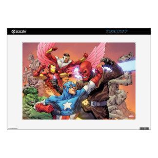 Avengers Versus Red Skull Decals For Laptops