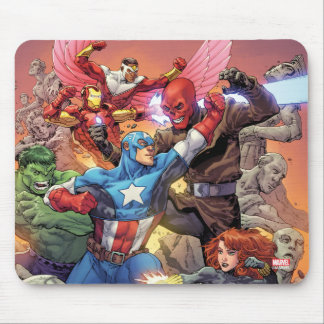 Avengers Versus Red Skull Mouse Pad