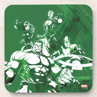 Avengers Watercolor Graphic Beverage Coaster