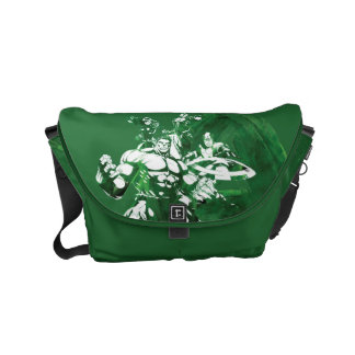 Avengers Watercolor Graphic Small Messenger Bag