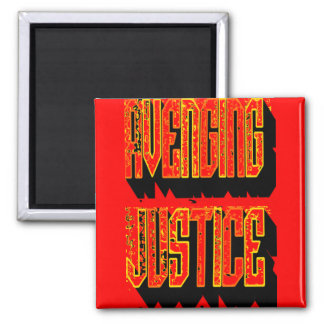 Avenging Justice Square Magnet