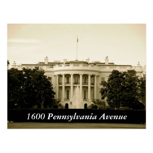Avenida 1600 de Pennsylvania Postales