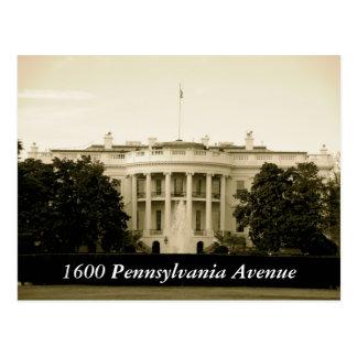 Avenida 1600 de Pennsylvania Tarjetas Postales