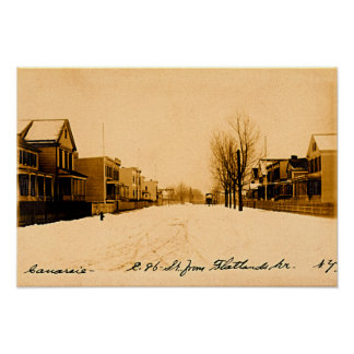 Avenida 1910 de los Flatlands de Canarsie Brooklyn Poster