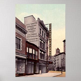 Avenida 1915 de Brooklyn Nueva York Flatbush Póster