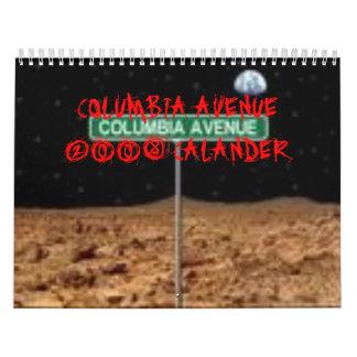 AVENIDA 2008 CALANDER DE COLUMBIA CALENDARIO