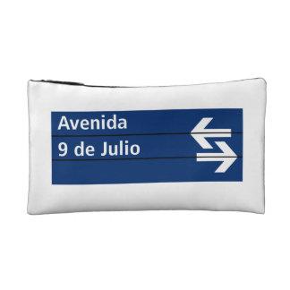 Avenida 9 de Julio, Buenos Aires Street Sign Makeup Bag