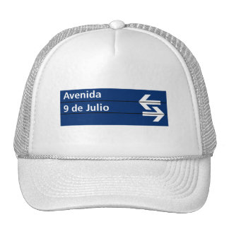 Avenida 9 de Julio, Buenos Aires Street Sign Trucker Hat