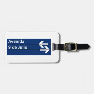 Avenida 9 de Julio, Buenos Aires Street Sign Luggage Tags
