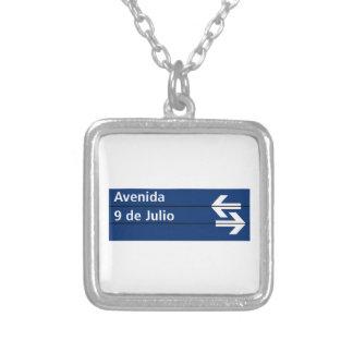 Avenida 9 de Julio Buenos Aires Street Sign Custom Jewelry