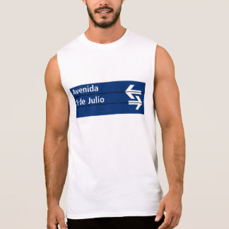 Avenida 9 de Julio, Buenos Aires Street Sign Sleeveless T-shirts