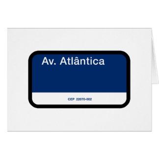 Avenida Atlântica, Rio de Janeiro, Street Sign Greeting Card