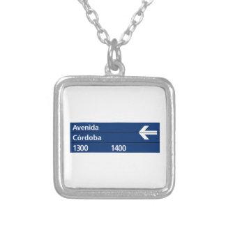 Avenida Córdoba Buenos Aires Street Sign Custom Jewelry