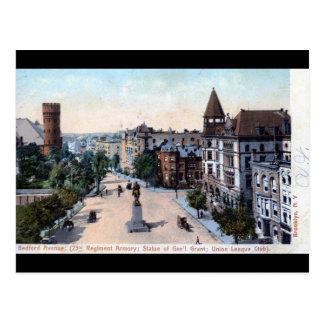 Avenida de Bedford., Brooklyn, vintage 1906 de NY Postales
