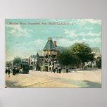 Avenida de Bloomfield., vintage 1908 de Montclair  Poster