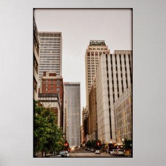 Avenida de Boston, AUTORIZACIÓN céntrica de Tulsa Póster