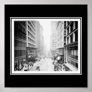 Avenida de Chicago-Madison del Poster-Vintage de W