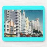 Avenida de Collins., Miami Beach, vintage de FL Alfombrillas De Raton